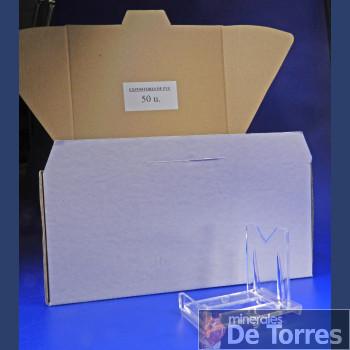 Expositor ajustable de plástico PVC. 50 unidades.