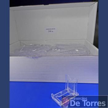 Expositor ajustable de plástico PVC. 200 unidades.