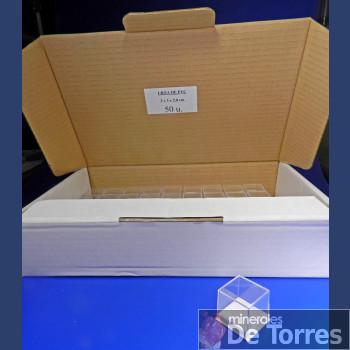 Urna de plástico PVC de 3 cm. 50 unidades.