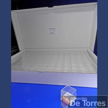 Urna de plástico PVC de 3 cm. 96 unidades.