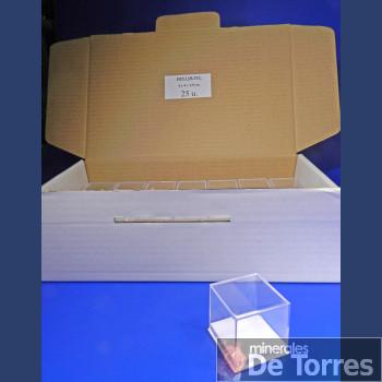 Urna de plástico PVC de 4 cm. 25 unidades