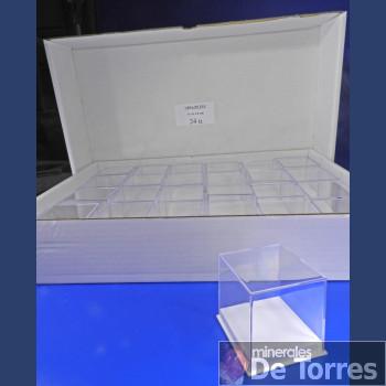 Urna de plástico PVC de 6 cm. 24 unidades.