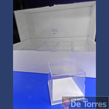 Urna de plástico PVC de 8,5  cm. 36 unidades.