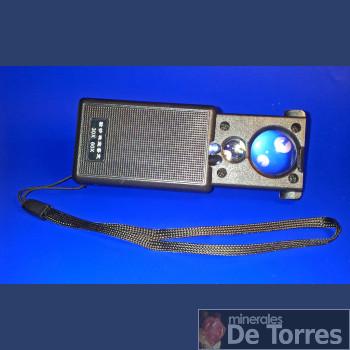 Lupa de bolsillo extensible con dos LED y 2 lentes.