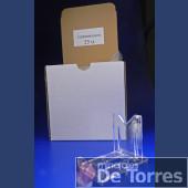 Expositor ajustable de plástico PVC. 25 unidades.