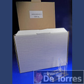 Expositor ajustable de plástico PVC. 100 unidades.