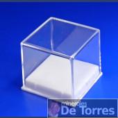 Urna de plástico PVC de 3 cm. 1 unidad.