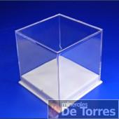 Urna de plástico PVC de 6 cm. 1 unidad.