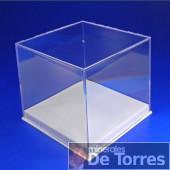 Urna de plástico PVC de 8,5 cm. 1 unidad.
