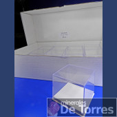 Urna de plástico PVC de 8,5  cm. 24 unidades.