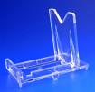 Expositor ajustable de plástico PVC. 1 unidad.