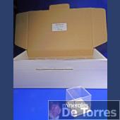Box plastic PVC 4 cm. 25 pieces