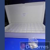 Box plastic PVC 4 cm. 54 pieces.